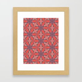 Summer Splash - Coral Framed Art Print