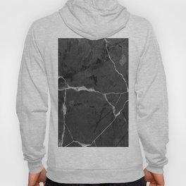 Black minimal marble Hoody