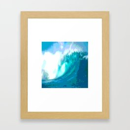 poster paint wave modern home design Framed Art Print