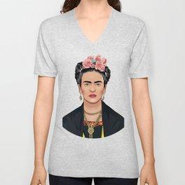 Frida Kahlo Feminist Icon Unisex V-Neck