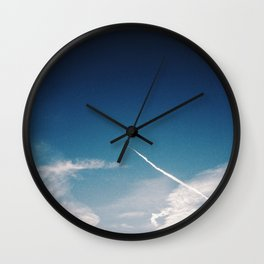 Blue Skies are calling, Groningen, Netherlands Wall Clock
