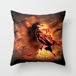 Sparrow Hell Throw Pillow