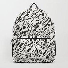 Black Olive Branches Backpack