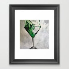 Green Martini Framed Art Print