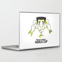 world cup Laptop & iPad Skins featuring Mummy Daddy's World cup by Jyoti Khetan