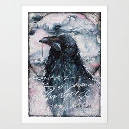 Raven Hanging the Stars, Giving Light Art Print