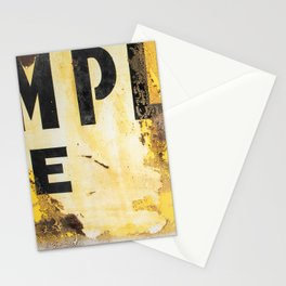 Distressed Typography Stationery Cards