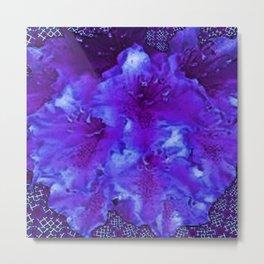Vivid Amethyst Purple Garden Flowers  Art Metal Print