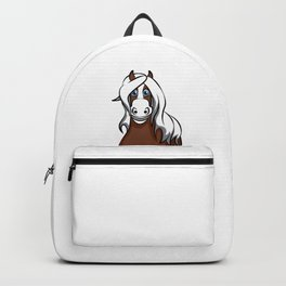haflinger horse Cartoon Riding Pony Gift Present Backpack