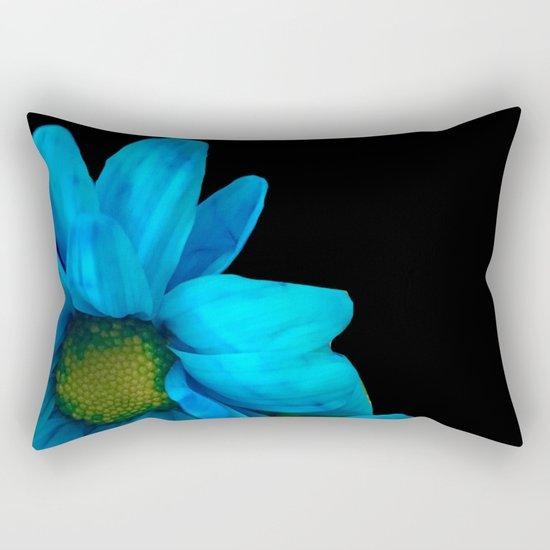 Blue Petals Rectangular Pillow