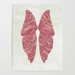 Abstract Butterfly Wings Design Poster