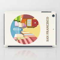 san francisco iPad Cases featuring San Francisco by uzualsunday