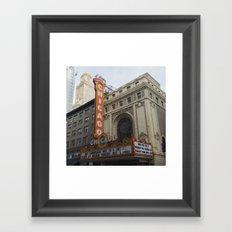 Chicago Theatre Framed Art Print