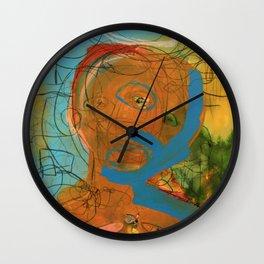 The Patron Saint of Fireflies Wall Clock