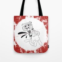 gore Tote Bags featuring gore horse by kairbear