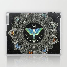 Lunar Moth Mandala with Background Laptop & iPad Skin