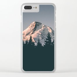 First Light on Mount Hood Clear iPhone Case