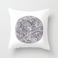 constellation Throw Pillows featuring Constellation by Inked in Red