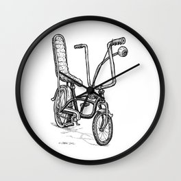 Cartoon Retro Mod Stingray Eyeball Shifter Muscle Bike Bicycle Wall Clock