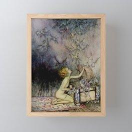 """Pandora Opens the Box"" by Arthur Rackham Framed Mini Art Print"