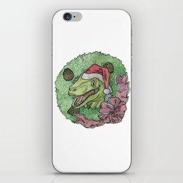 Christmas Raptor iPhone Skin