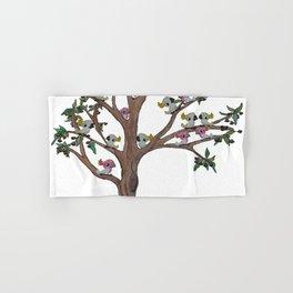 Cockatoos sitting in a Gum Tree Hand & Bath Towel