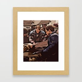 Planning and Attack Framed Art Print