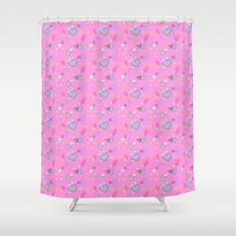 80s Confetti Party Shower Curtain