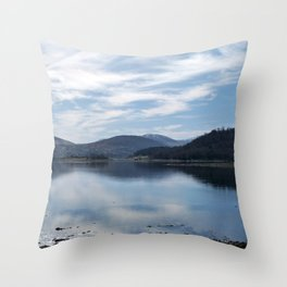 View over the Loch Throw Pillow