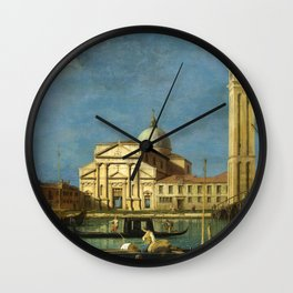 Venice - S. Pietro in Castello by Canaletto Wall Clock