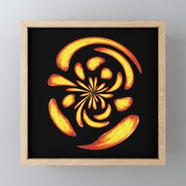 Dancing fire balls Framed Mini Art Print