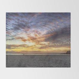 Good Harbor Beach Sunrise Throw Blanket