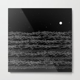 Night belongs to Reindeer Metal Print