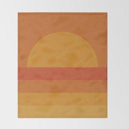 Retro Geometric Sunset Throw Blanket