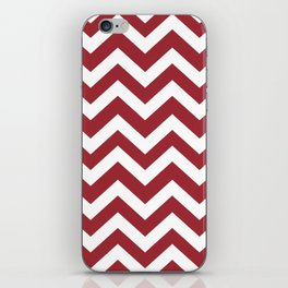 Japanese carmine - red color - Zigzag Chevron Pattern iPhone Skin
