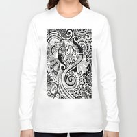 maori Long Sleeve T-shirts featuring Maori tribal design by Noah's ART