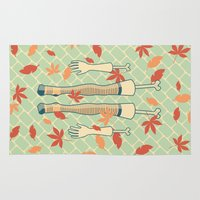 fall Area & Throw Rugs featuring fall by freshinkstain