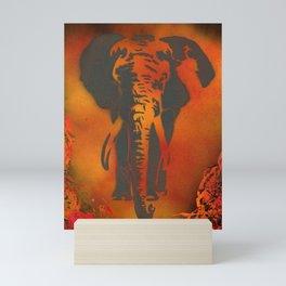 Orange Elephant Mini Art Print