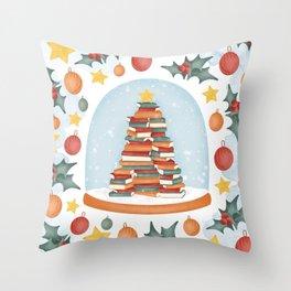 BOOKISH CHRISTMAS Throw Pillow