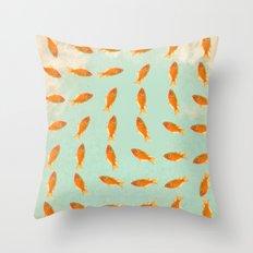 pattern goldfish Throw Pillow