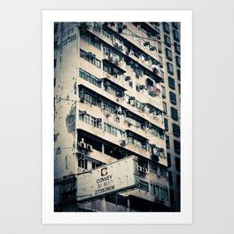 Rundown Hong Kong  Art Print