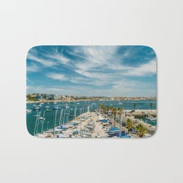 Luxury Yachts And Boats In Cascais Port At Atlantic Ocean, Wall Art Print, Luxury Resort Art, Poster Bath Mat