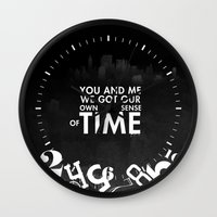 vampire weekend Wall Clocks featuring Hannah Hunt / Vampire Weekend by Jesus Acosta