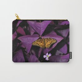 Purple Oxalis 2 Carry-All Pouch