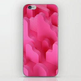 Abstract Shapes in Pink iPhone Skin