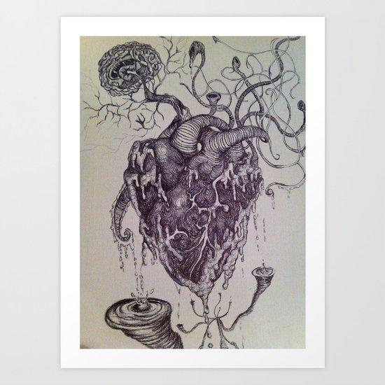 Organic Porn Art Print