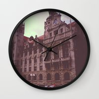 germany Wall Clocks featuring Germany by Jiesha  Stephens