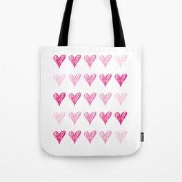 Ombre Hearts Tote Bag