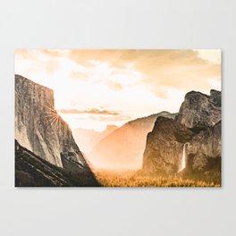 Yosemite Valley Burn - Sunrise Canvas Print
