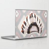 headdress Laptop & iPad Skins featuring Headdress by Ezgi Kaya